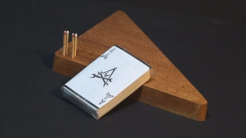 Crib board with deck of cards - Ace of Repairs101 showing