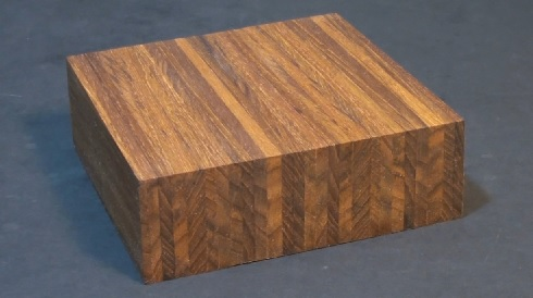 Teak edge grain butcher block / cheese board