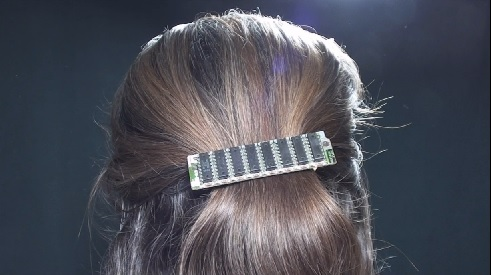 Hair jewelry made of computer memory card