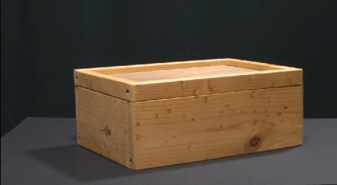 Reclaimed materials storage box