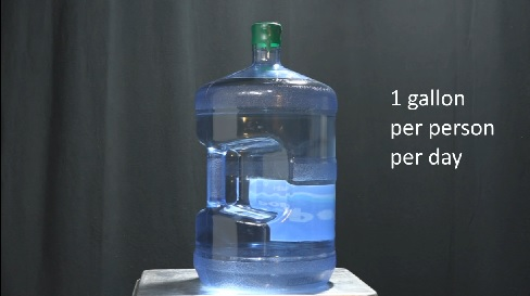 Water cooler jug - 1 gal./person/day