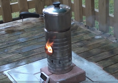 cooking with bio mass fuel campstove