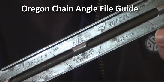 Oregon chain angle file guide for precise sharpening
