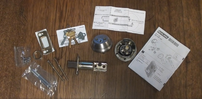 Schlage double cylinder deadbolt lock set unboxed