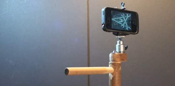 home made iPhone Video Camera Stabilizer