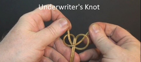 Tying an underwriters knot