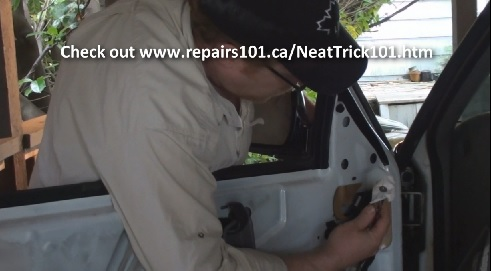 Removal and installation of the driver's side mirror on a chevy blazer