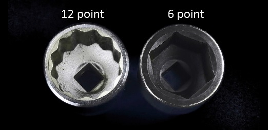 Comparing 6 point impact sockets to 12 point chrome sockets