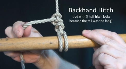 The backhand hitch: my favorite knot!