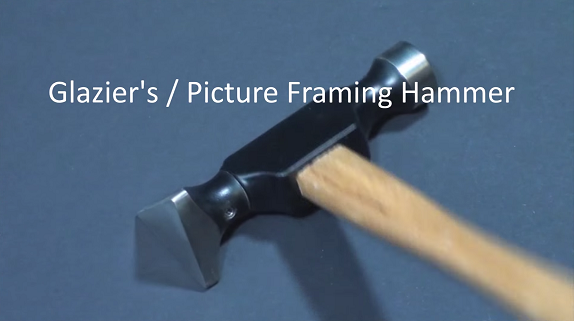 Glaziers / picture framing hammer