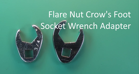 Flare Nut Crow's Foot Socket Wrench Adapter