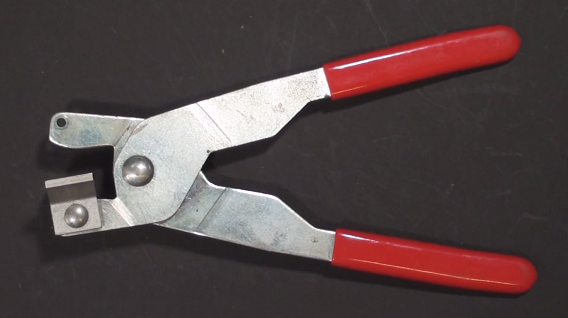 Cut running pliers for glass and mirror cutting