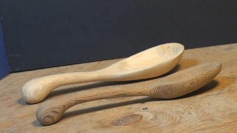 handmade wooden spoons - original and copy