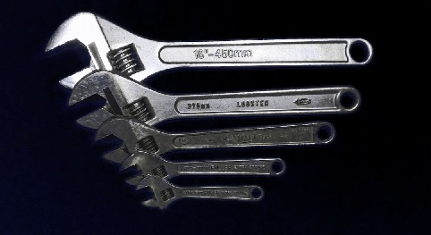 Variety of adjustable wrenches